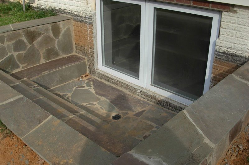 Flagstone Egress Window