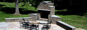 Outdoor patio fireplace alexandria virginia