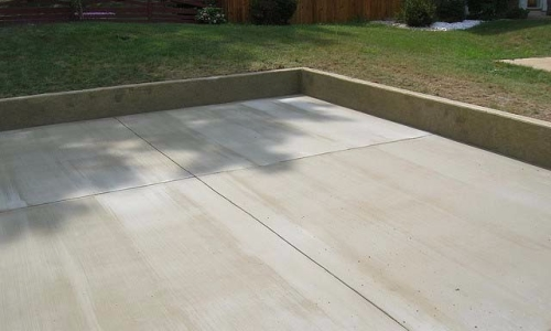 Reston Concrete Driveway With fine broomed finish