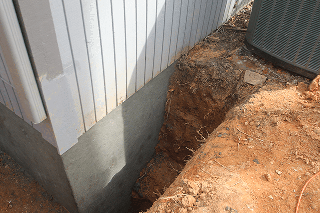 Cracked block foundation repair for Parging interior basement walls