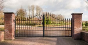 custom rod iron driveway entrance gate