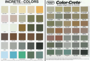Increte Concrete Color Chart