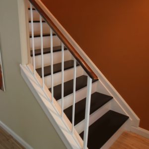interior wood wrought rails