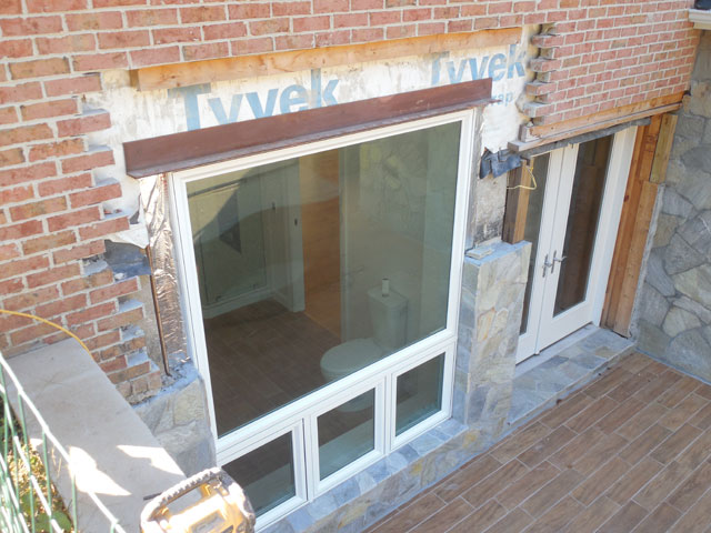 Cutting A Window Into Brick Wall