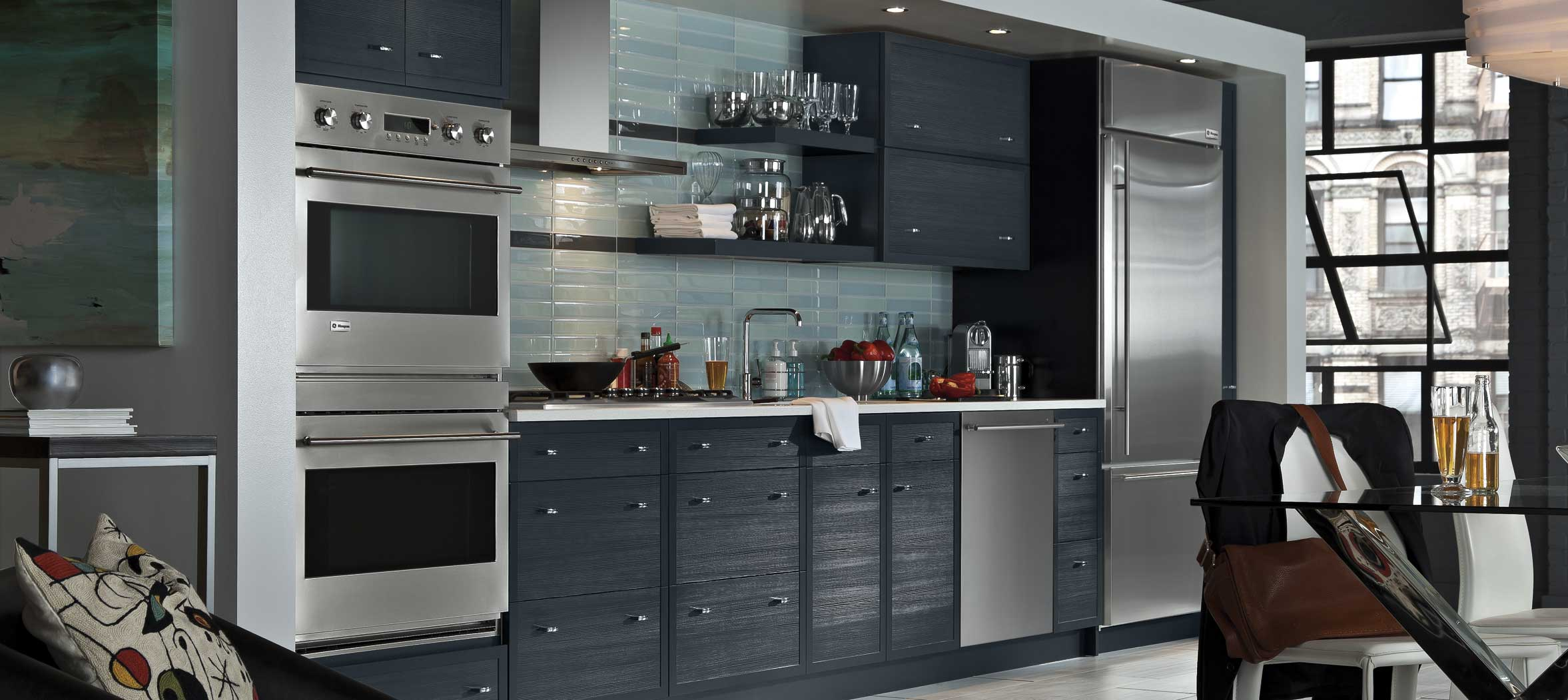 Explore these kitchen layout options fairfax contractor for Kitchen units on one wall