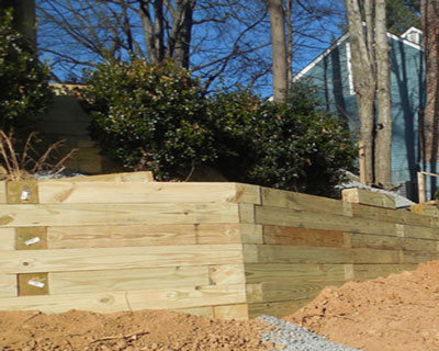 Wood Retaining Wall Contractor Northern Virginia - Fairfax Contractor