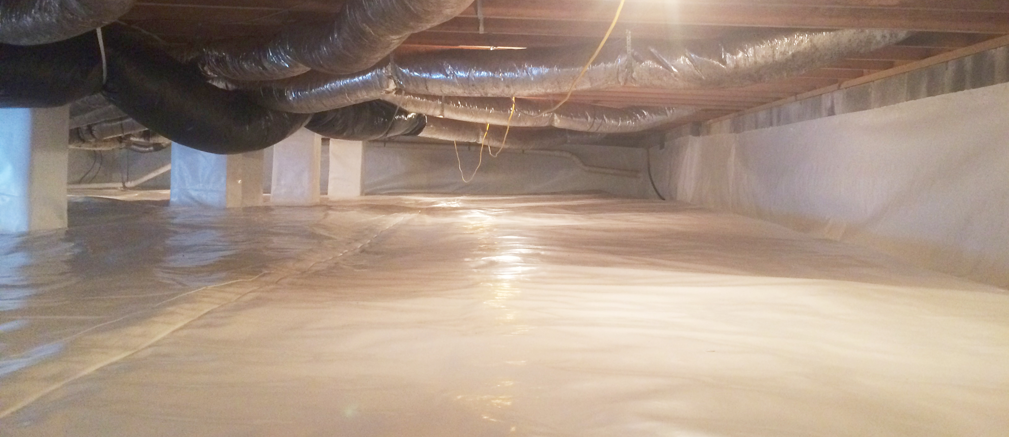 Crawl Space Waterproofing : Waterproofing a crawl space in northern virginia is