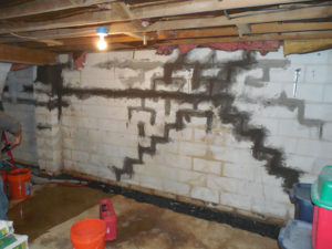 closing foundation block wall joints northern VA