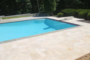 walnut travertine patio deck Northern VA