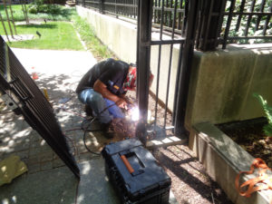 welding a security gate fairfax contractor