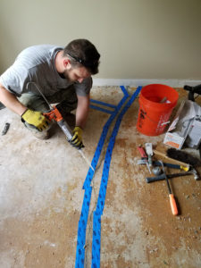 epoxy injection concrete foundation slab repair virginia