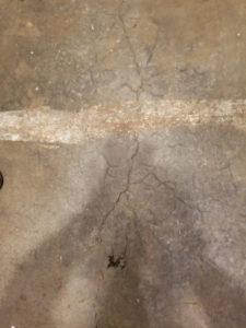 spider cracks basement slab northern Virginia