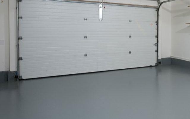 Solid Color Garage Epoxy Flooring Options